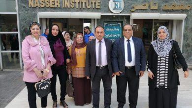 Photo of بالصور.. أبوزيد في زيارة لطلاب التمريض بمعهد ناصر