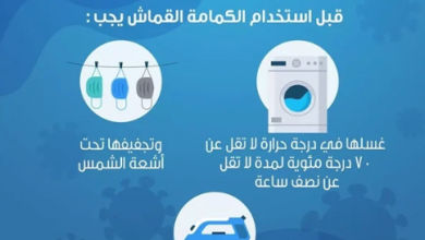 Photo of الصحة توضح كيفية غسيل الكمامات القماش للوقاية من كورونا